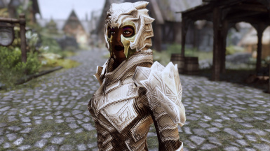 Dry Mud Flavor (female) - front view with helmet and krosis mask -