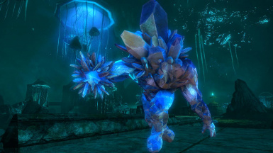 Crystal Golems -Mihail Monsters and Animals (SSE) (mihail immersive add-ons -blackreach- dark souls)