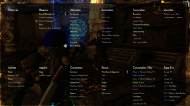 Updated Categorized Favorites Menu at Skyrim Special Edition Nexus