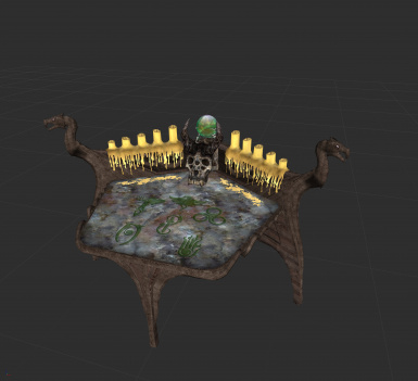 Brown dragon and marble top enchanting table