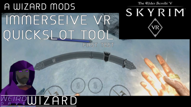 Immersive VR Quickslots Tool