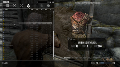 Dunmer armor made from items found in Solstheim