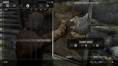 Falmer equipment can be used for chitin or new armor