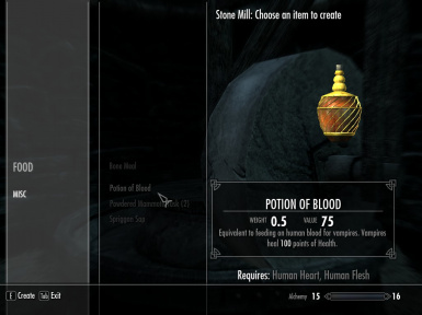 Potion of Blood recipe