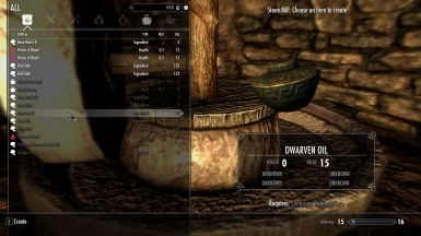 Dwarven Oil recipe