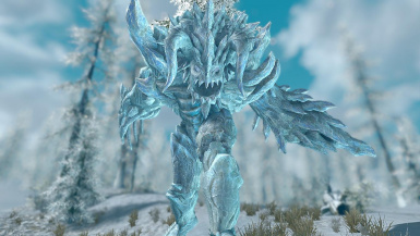 Ice Golem- Mihail Monsters and Animals (SSE)(mihail immersive add-ons- atronach- arena)