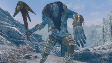 Ice Titans- Mihail Monsters and Animals (SSE)(mihail immersive add-ons- giant- witcher)