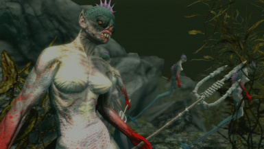 Mermaids- Mihail Monsters and Animals (SSE) (mihail immersive add-ons- harry potter- siren)