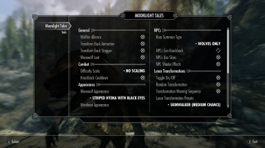 Moonlight Tales MCM at Skyrim Special Edition Nexus - Mods