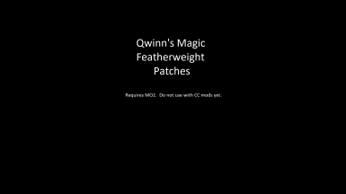 Qwinn's Magic Featherweight Patches
