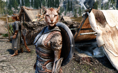 Khajiit's hands are finally free.