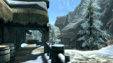 Dawnstar No Snow Under The Roof At Skyrim Special