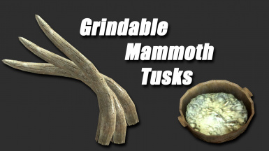 Grindable Mammoth Tusks