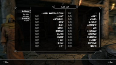 Configurable Real Names for SSE at Skyrim Special Edition