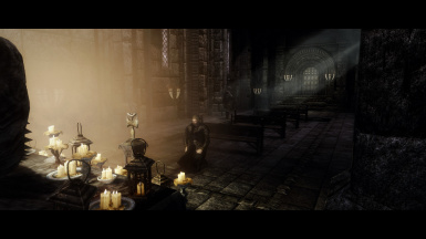 Ulfric praying in Temple of Talos