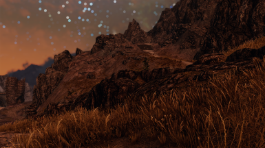 Valtheim Towers and Guldun Rock in the distance.