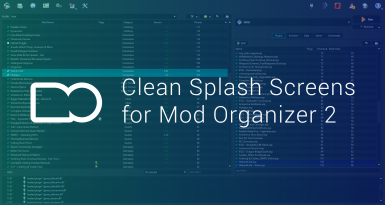 Clean Splash Screens for Mod Organizer 2
