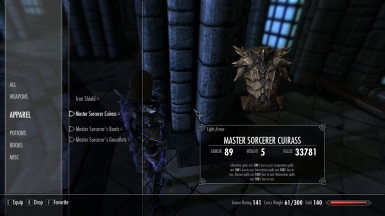 Master Sorceror's Armor and Special Tomes