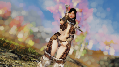 Justice Scaled Horn Armor - CBBE SSE BodySlide