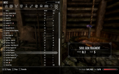 CS Soul Fragments to Soul Gems at Skyrim Special Edition