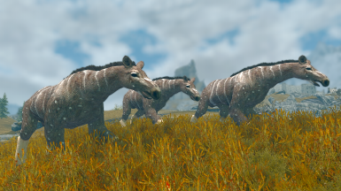 Moropus and Dawn Horses - Mihail Monsters and Animals (sse)(mihail immersive add-ons - megafauna)