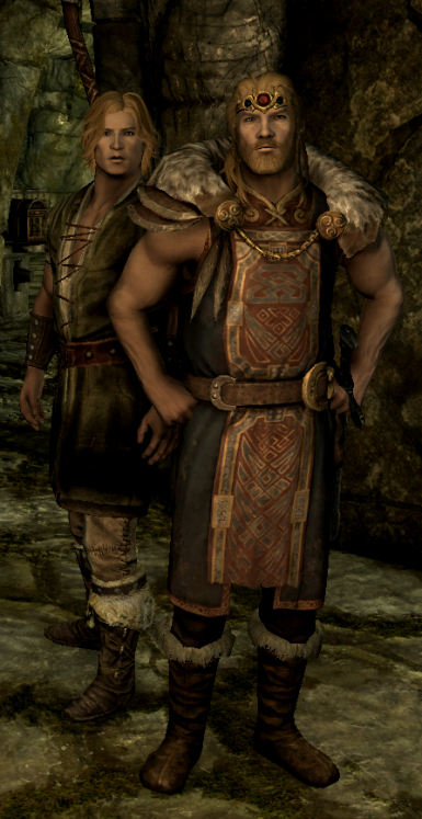 Balgruuf is slightly taller than a typical Nord.