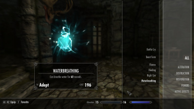 Breathing under water Ability