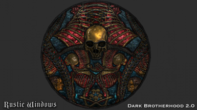 Dark Brotherhood Stained Glass Window