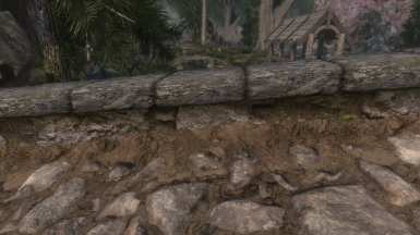 no more gross vanilla road dirt. Matches my ground textures