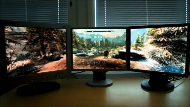 5760 x 1080 or 1440 x 7680 Surround Triple Monitor Gaming for SkyUi 5.2