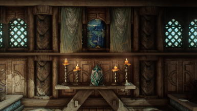Rudy HQ Misc - Ren's HD Shrines - Solitude and Temple Frescos - Rustic Furniture - Rustic Clutter Collection - High Poly Project - Designs of the Nords - Noble Skyrim - Natural and Atmospheric Tamriel - Realistic Lighting Overhaul - Photorealistic Tamriel
