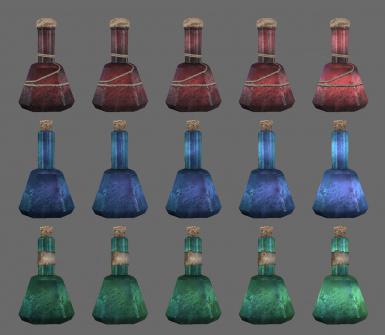 New Textures to Indicate Potion Quality