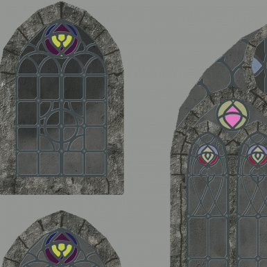 ship windows made from scratch.