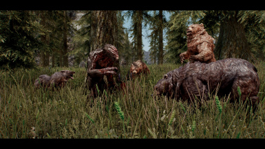 not related to quest but i saw a troll getting bullied by bears in falskaar