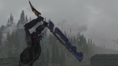 Lycan Darkness Sabre - AQWorlds Weapon Remake at Skyrim Special