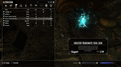 Soul Gem Transmutation and Transfusion SE at Skyrim Special