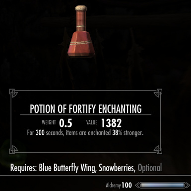 Increased potion