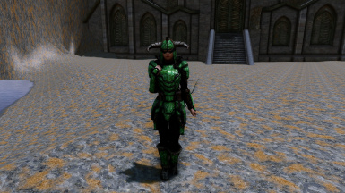 Glass Stalhrim Armor and Weapons - Standalone