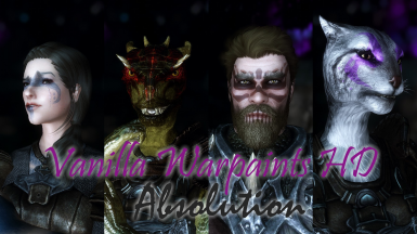 Vanilla Warpaints Absolution - HD 2K and 4K Vanilla Warpaints - Every Warpaint Adjusted For Every Race and Gender - Special Edition