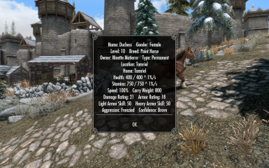 Customize your Bruma horse name and stats!