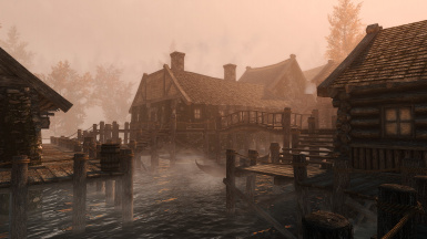 Early Morning Fog In Riften