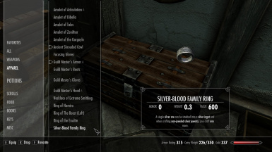Silver-Blood Family Ring