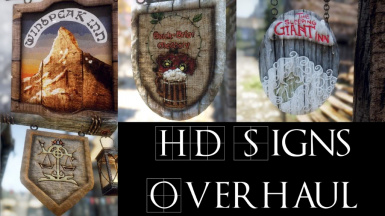 HD Unique Hand Made Signs Overhaul SE