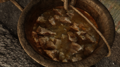 Lighter Meat and Onion Stew