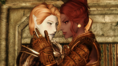 Saucy Ash (w/Val from The Ancient Falmer - A Snow Elf Race)