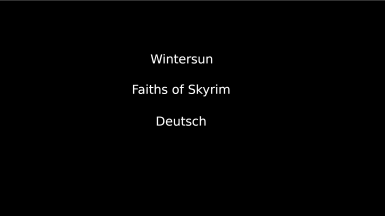 Wintersun - Faiths of Skyrim - Deutsch
