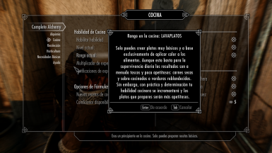 Complete Alchemy and Cooking Overhaul - Spanish Translation