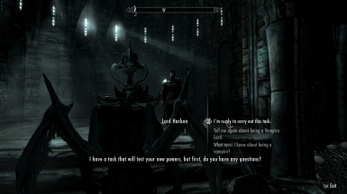 Player responds while in Vampire Lord form