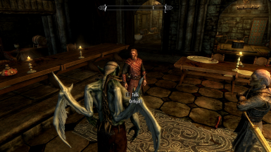 Now the player can initiate dialogue while in Vampire Lord form