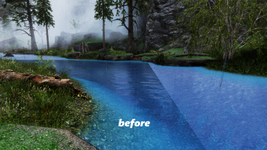Water Flow Lines Fix Patch SE for Realistic Water Two